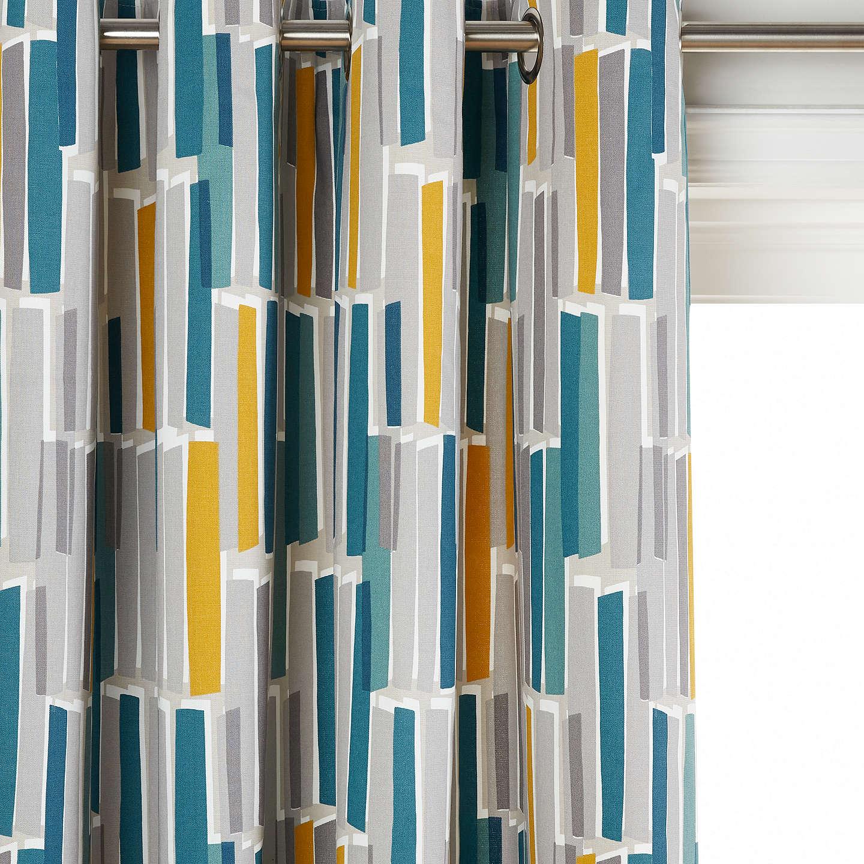 John Lewis Ingrid Pair Lined Eyelet Curtains by John Lewis
