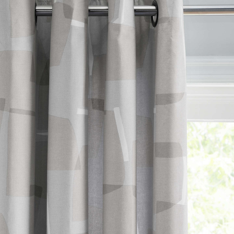 John Lewis Larsson Pair Lined Eyelet Curtains, Smoke Grey by John Lewis