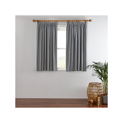 Buy John Lewis Mara Diamond Lined Pencil Pleat Curtains John Lewis - John lewis curtains grey