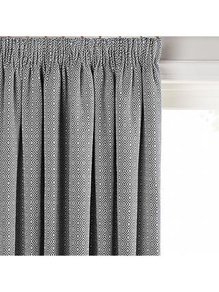 John Lewis & Partners Mara Diamond Pair Lined Pencil Pleat Curtains