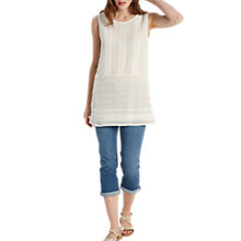 Buy White Stuff Esme Cutwork Tunic Vest, Cream Online at johnlewis.com