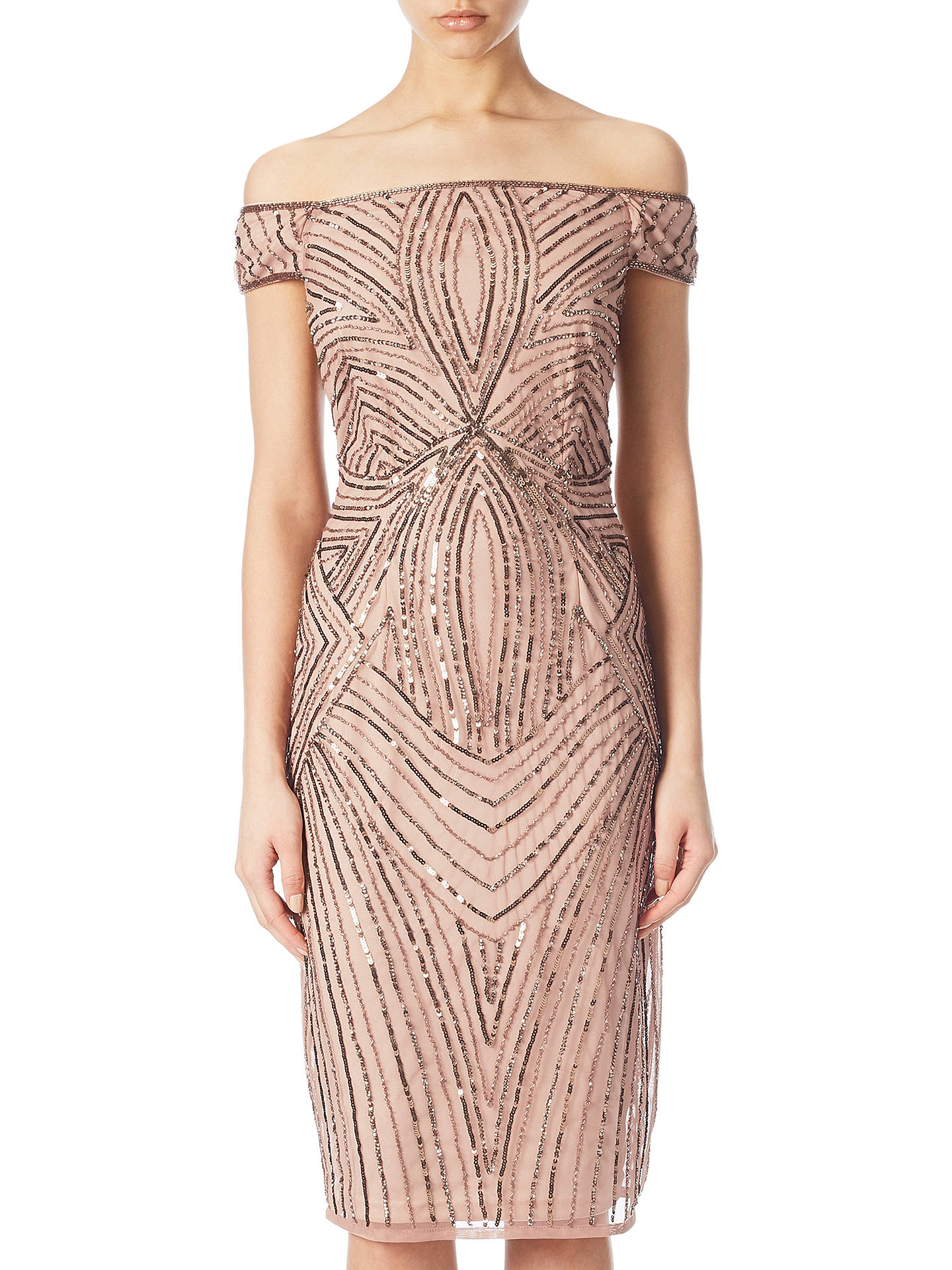 3a897ca237d Buy Adrianna Papell Petite Off Shoulder Beaded Cocktail Dress