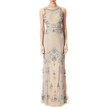 Buy Adrianna Papell Petite Beaded Mermaid Gown, Silver/Nude Online at johnlewis.com