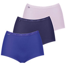 Buy Sloggi Basic+ 3 Pack Maxi Briefs, Multi Online at johnlewis.com