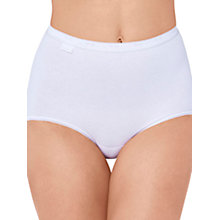 Buy Sloggi Basic+ Diamond 3 Pack Maxi Briefs, White Online at johnlewis.com
