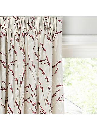 John Lewis & Partners Willow Blossom Pair Lined Pencil Pleat Curtains