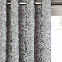 Buy John Lewis Larch Bonsai Lined Eyelet Curtains, Silver Online at johnlewis.com