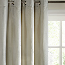 Buy John Lewis Mandarin Ikat Lined Eyelet Curtains, Silver Online at johnlewis.com