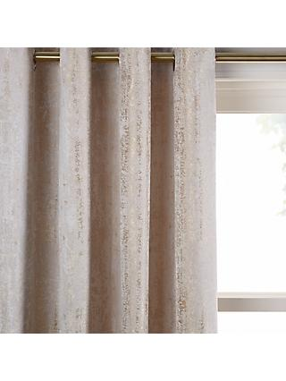 John Lewis & Partners Compton Pair Textured Lined Eyelet Curtains