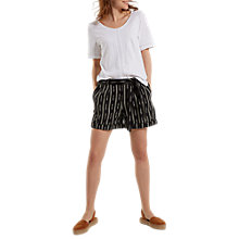 Buy White Stuff Izzie Ikat Shorts, Black Online at johnlewis.com
