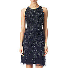 Buy Adrianna Papell Short Sleeveless Beaded Dress, Navy Online at johnlewis.com