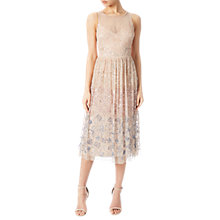 Buy Adrianna Papell Sleeveless Beaded Tea Dress, Shell Online at johnlewis.com