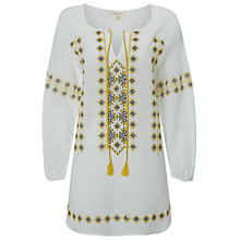 Buy White Stuff Pippa Tunic Dress, White Online at johnlewis.com