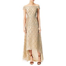 Buy Adrianna Papell Off Shoulder Beaded Organza Gown, Doe Online at johnlewis.com