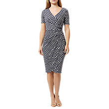 Buy Damsel in a dress Enrica Spot Print Dress, Navy/Multi Online at johnlewis.com