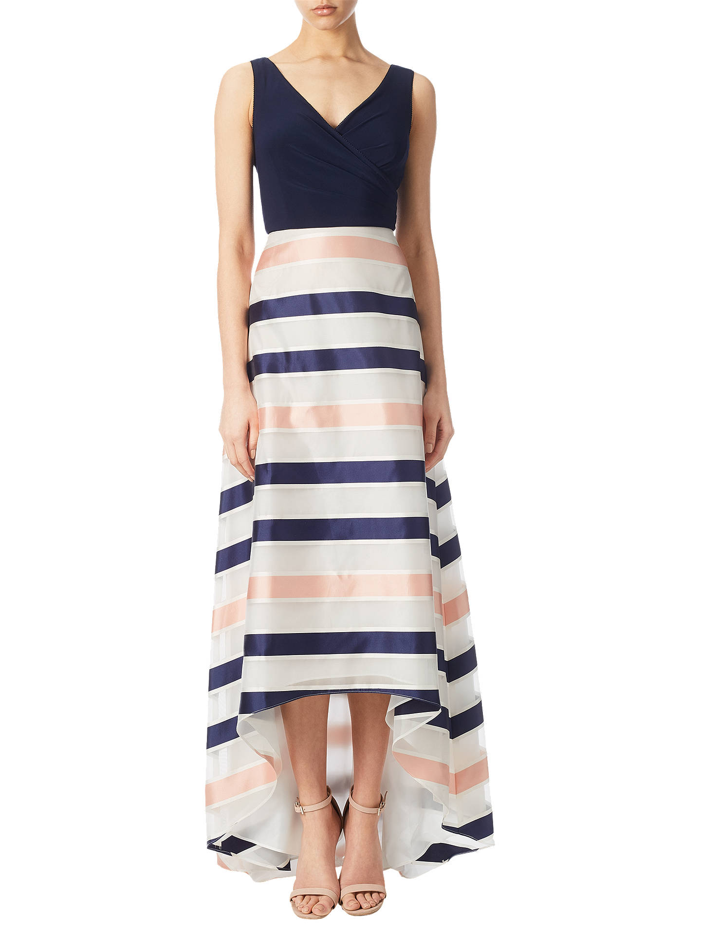 40cef88037b Buy Adrianna Papell Jersey Organza Stripe High-Low Dress