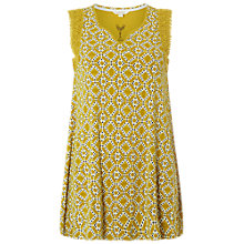 Buy White Stuff Tile Print Jersey Tunic, Yellow Online at johnlewis.com