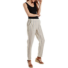 Buy White Stuff Maison Stripe Linen Trousers, Natural Online at johnlewis.com