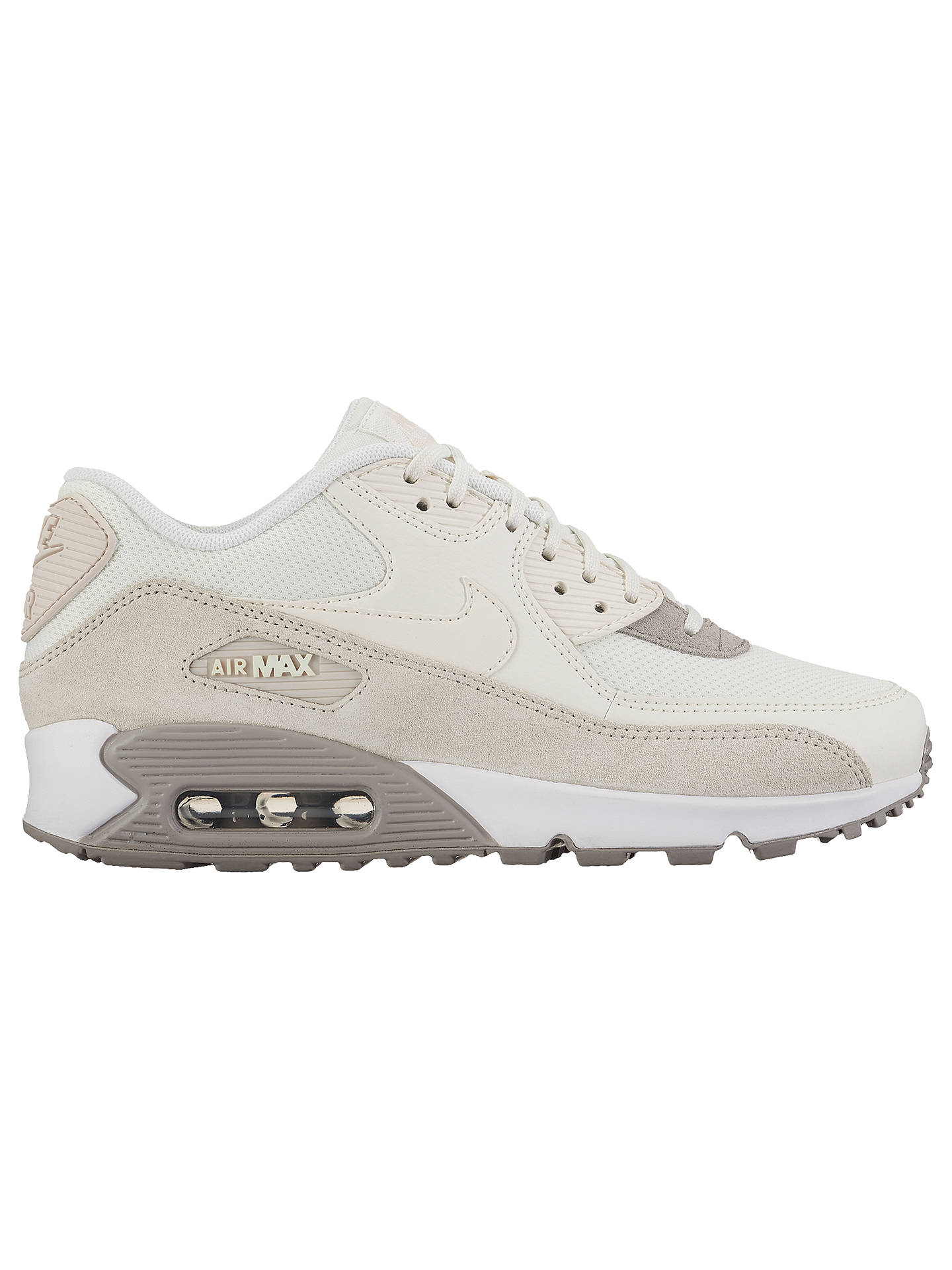 separation shoes 7343e f2f01 Buy Nike Air Max 90 Women s Trainers, White Cream, 4 Online at johnlewis ...