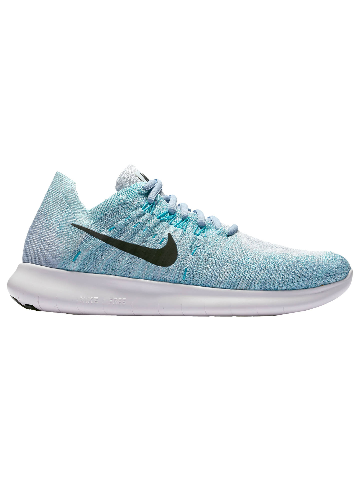 promo code 67b55 2a32f BuyNike Free RN Flyknit 2017 Women s Running Shoes, Blue Tint Aurora Green,  4 ...