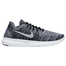 Buy Nike Free RN Flyknit 2017 Men's Running Shoes, Black/Volt Online at johnlewis.com