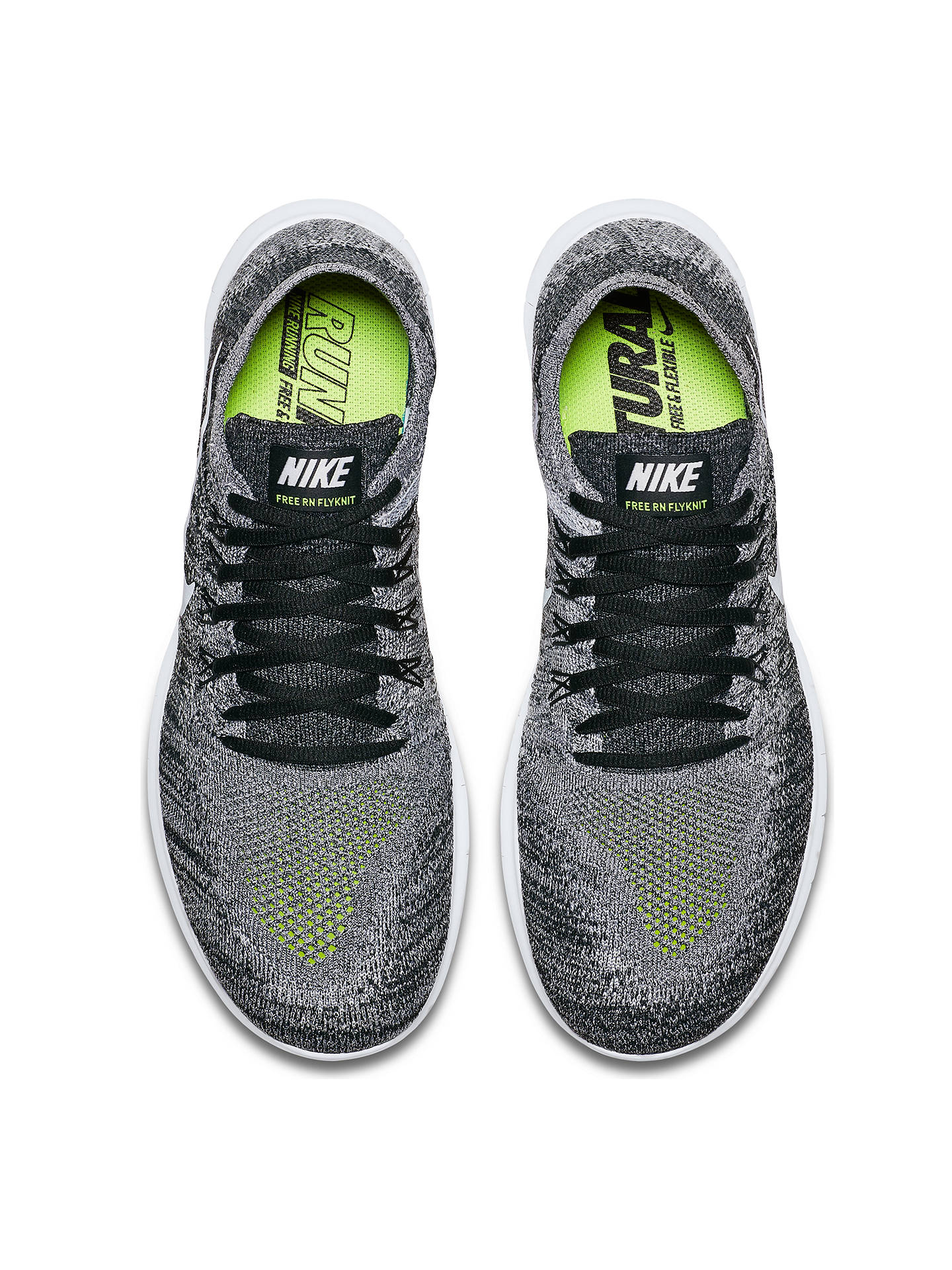 premium selection ef521 f29cd ... BuyNike Free RN Flyknit 2017 Mens Running Shoes, BlackVolt, 7 Online  at ...