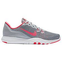 Buy Nike Flex TR 7 Women's Cross Trainers, Wolf Grey/Racer Pink Online at johnlewis.com