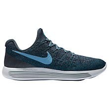 Buy Nike LunarEpic Low Flyknit 2 Men's Running Shoes, Blue Online at johnlewis.com