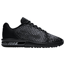 Buy Nike Air Max Sequent 2 Men's Running Shoes, Black/Wolf Grey Online at johnlewis.com