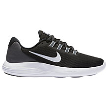 Buy Nike LunarConverge Women's Running Shoe, Black/White/Grey Online at johnlewis.com