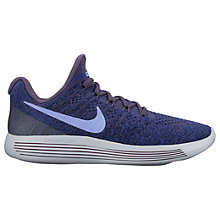 Buy Nike LunarEpic Low Flyknit 2 Women's Running Shoes, Purple/Blue Online at johnlewis.com