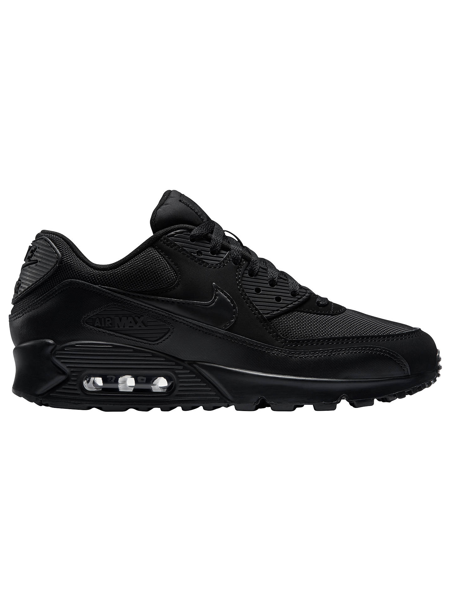 new york 273ac 2d445 Buy Nike Air Max 90 Essential Men s Trainers, Black, 7 Online at johnlewis.