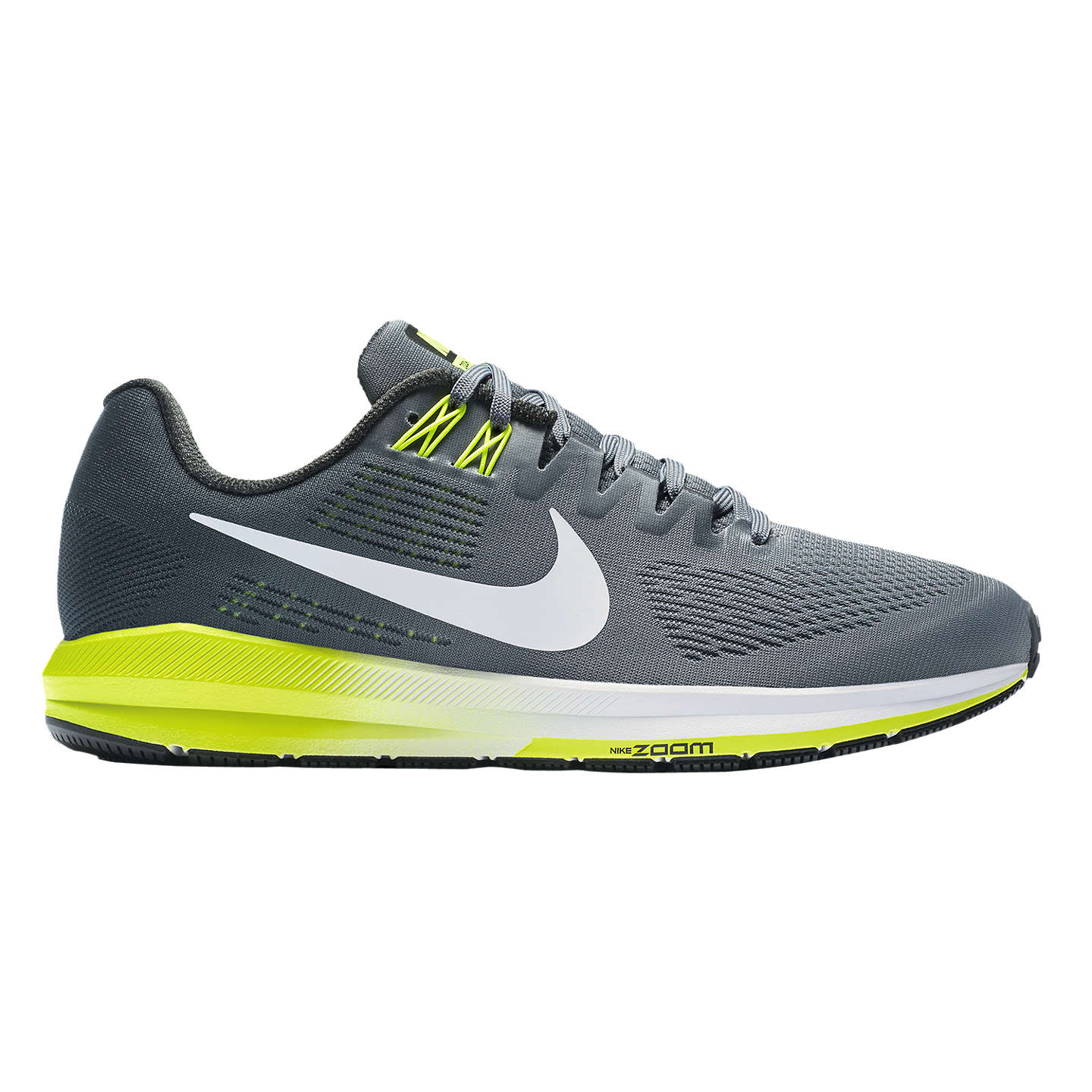 BuyNike Air Zoom Structure 21 Men's Running Shoes, Grey, 7 Online at  johnlewis.