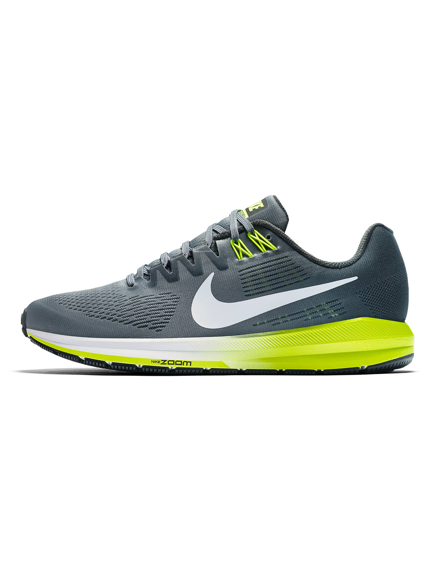 BuyNike Air Zoom Structure 21 Mens Running Shoes, Grey, 7 Online at  johnlewis.