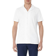 Buy Reiss Turin Terry Towelling Short Sleeve Cuban Shirt, White Online at johnlewis.com