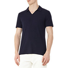 Buy Reiss Charles Ribbed Polo Shirt, Navy Online at johnlewis.com