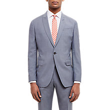 Buy Jaeger Super 110s Wool Sharkskin Regular Fit Suit Jacket, Grey Melange Online at johnlewis.com