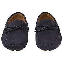 Buy Reiss Benton Suede Driving Shoes, Navy Online at johnlewis.com