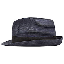Buy Reiss Thomas Woven Trilby Hat, Navy Online at johnlewis.com