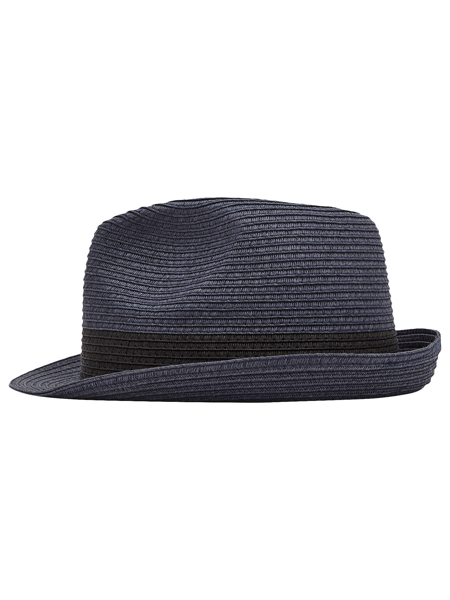 57f2dfea Buy Reiss Thomas Woven Trilby Hat, Navy, S/M Online at johnlewis.