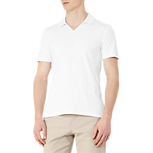 Buy Reiss Charles Ribbed Polo Shirt, White Online at johnlewis.com