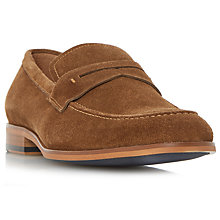Buy Dune Ruling Penny Loafers, Tan Online at johnlewis.com