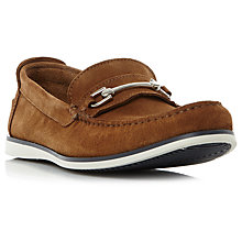 Buy Dune Bronn Snaffle Suede Loafers Online at johnlewis.com