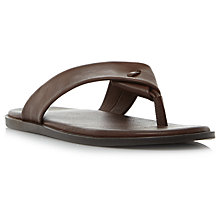 Buy Dune Ignite Leather Sandals, Brown Online at johnlewis.com
