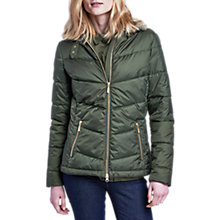 Buy Barbour International Garvie Quilted Jacket, Olive Online at johnlewis.com