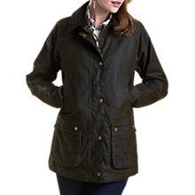 Buy Barbour International Acorn Wax Jacket, Olive Online at johnlewis.com