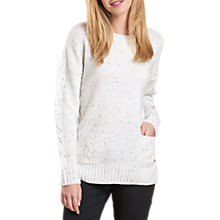 Buy Barbour Priory Cable Knit Jumper, Cloud Online at johnlewis.com