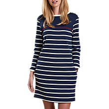 Buy Barbour Seaton Stripe Jersey Dress, Navy/Cloud Online at johnlewis.com