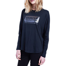 Buy Barbour International Mallory Long Sleeve Logo T-Shirt Online at johnlewis.com