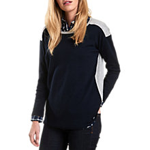 Buy Barbour Freestone Colour Block Jumper, Navy/Grey Online at johnlewis.com